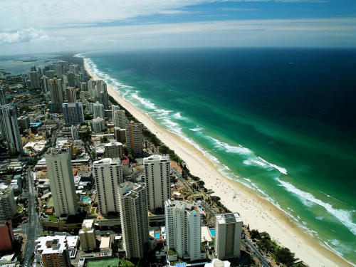 """Endless beach, beach and beach"" - Surfer's Paradise"